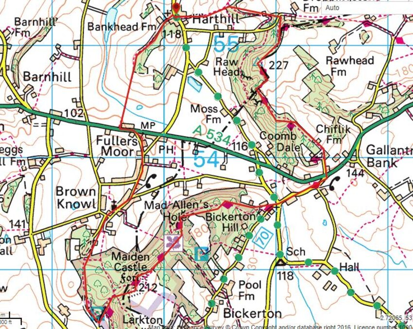 Harthill-Map